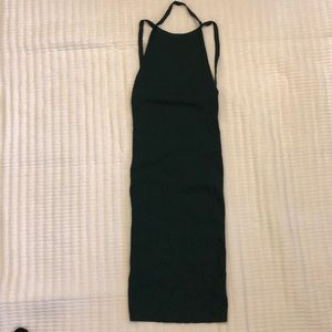 Forever 21 Dark Green Ribbed Dress